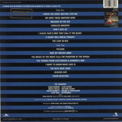 The Shadows Simply Shadows - Promo Stamped vinyl LP album (LP record) UK SHDLPSI745491