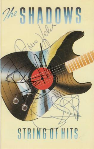 The Shadows String Of Hits - Autographed cassette album UK SHDCLST721542