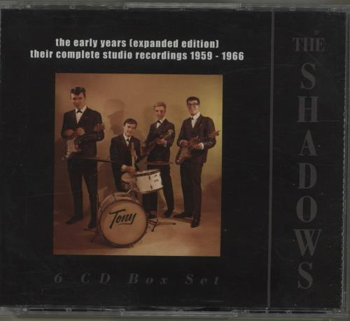 The Shadows The Early Years (Expanded Edition): Their Complete Studio Recordings 1959-1966 6-CD album set UK SHD6CTH688588