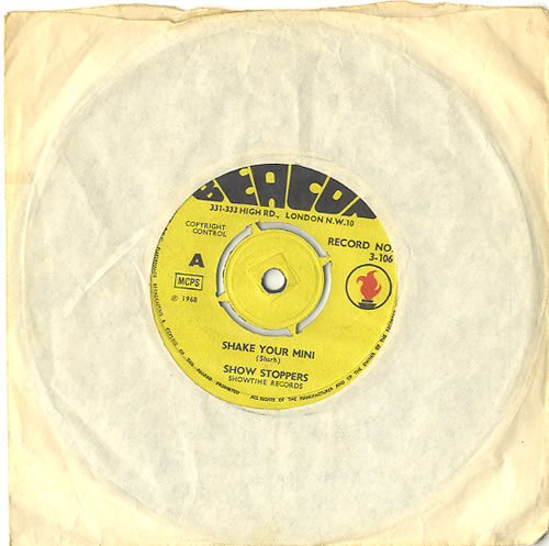 """The Show Stoppers Shake Your Mini 7"""" vinyl single (7 inch record) UK S5O07SH485126"""