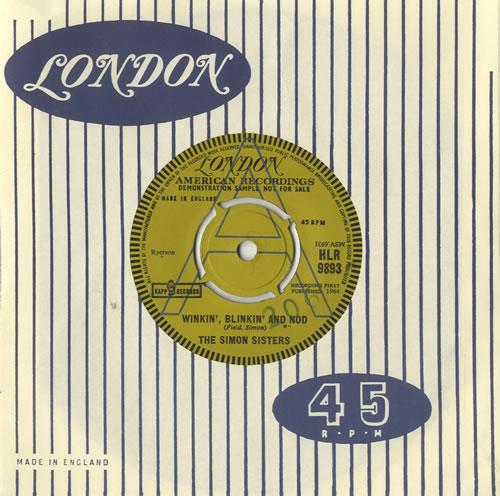 "The Simon Sisters Winkin' Blinkin' And Nod 7"" vinyl single (7 inch record) UK 8SS07WI468969"