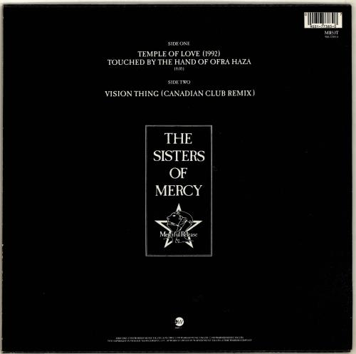 """The Sisters Of Mercy Temple Of Love (1992) + Poster 12"""" vinyl single (12 inch record / Maxi-single) UK SOM12TE04848"""