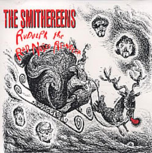 """The Smithereens Rudolph The Red Nosed Reindeer CD single (CD5 / 5"""") US SMRC5RU261330"""