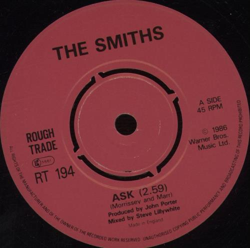 """The Smiths Ask - 4 Prong 7"""" vinyl single (7 inch record) UK SMI07AS31801"""
