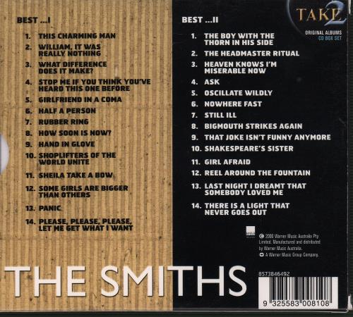 The Smiths Best I Amp Ii Australian 2 Cd Album Set Double