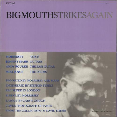 "The Smiths Bigmouth Strikes Again - EX 12"" vinyl single (12 inch record / Maxi-single) UK SMI12BI728858"