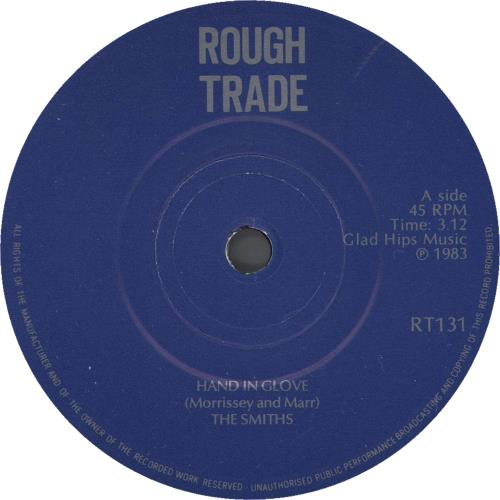 """The Smiths Hand In Glove - P/S - Manchester - Solid Centre 7"""" vinyl single (7 inch record) UK SMI07HA00122"""