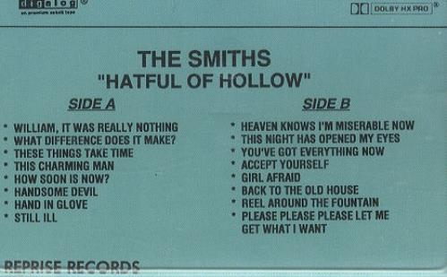 The Smiths Hatful Of Hollow US Promo cassette album (307485)