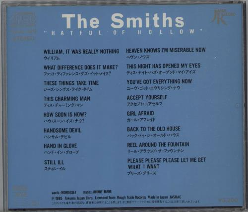 The Smiths Hatful Of Hollow CD album (CDLP) Japanese SMICDHA671119