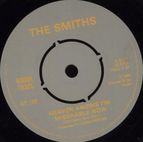 """The Smiths Heaven Knows I'm Miserable Now - EX 7"""" vinyl single (7 inch record) UK SMI07HE299920"""