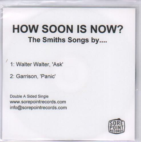 The Smiths How Soon Is Now? The Smiths Songs by... CD-R acetate UK SMICRHO679974