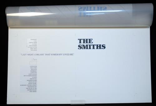The Smiths Last Night I Dream That Somebody Loved Me -Withdrawn Artwork artwork UK SMIARLA675500