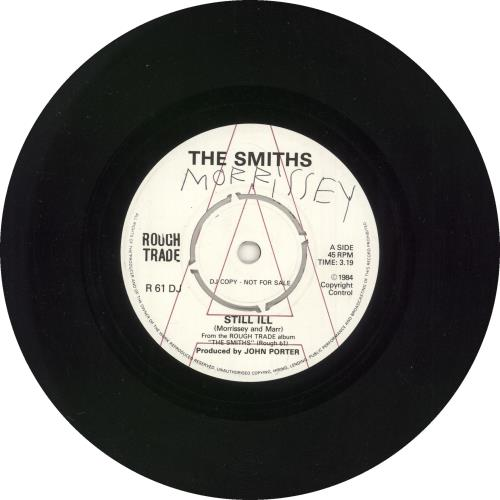 """The Smiths Still Ill - Unreleased Promotional 7"""" - Autographed by Morrissey 7"""" vinyl single (7 inch record) UK SMI07ST728874"""