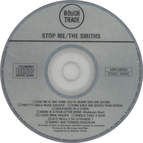 The Smiths Stop Me CD album (CDLP) Japanese SMICDST464255