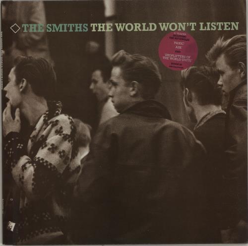 The Smiths The World Won't Listen - stickered p/s vinyl LP album (LP record) UK SMILPTH303935
