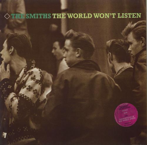 The Smiths The World Won't Listen - Stickered Sleeve - EX vinyl LP album (LP record) UK SMILPTH706682