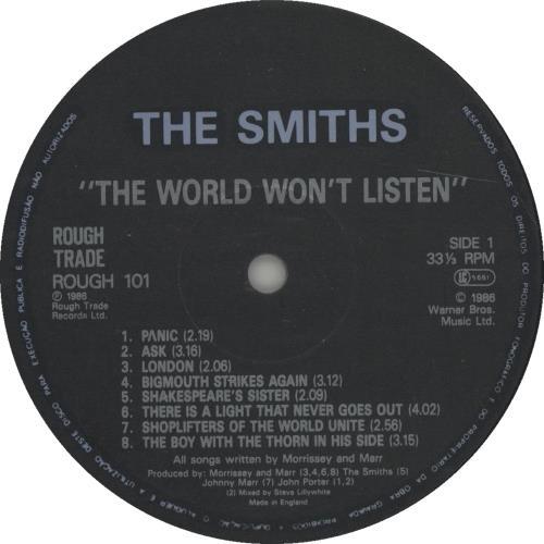 The Smiths The World Won T Listen Portugese Vinyl Lp Album