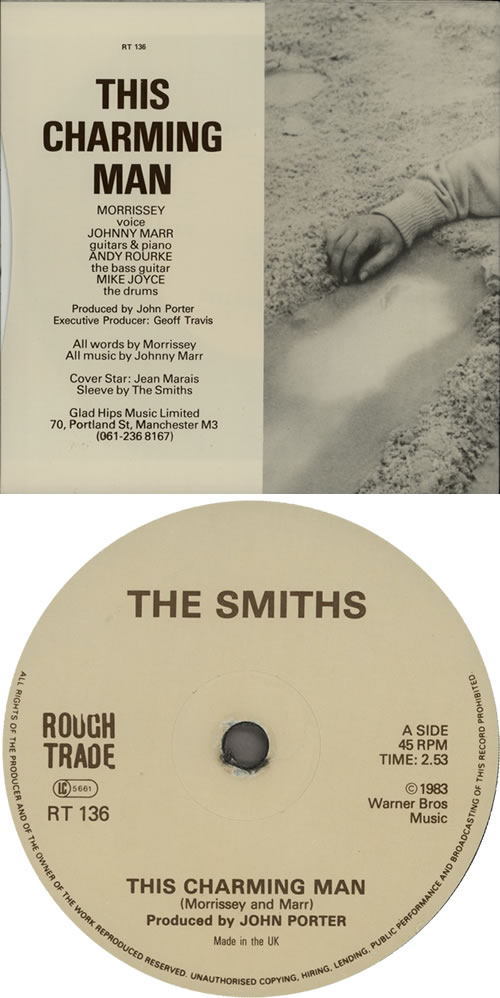 "The Smiths This Charming Man - 'Glad Hips Music Ltd' sleeve 7"" vinyl single (7 inch record) UK SMI07TH435255"