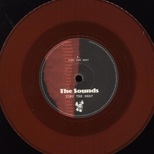 "The Sounds Tony The Beat - Red Vinyl + Sticker 7"" vinyl single (7 inch record) UK ND207TO466950"