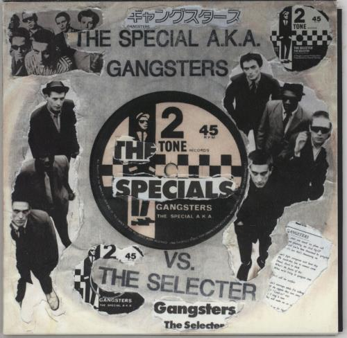 "The Specials Gangsters - Punk Art Sleeve 7"" vinyl single (7 inch record) UK SPE07GA757461"