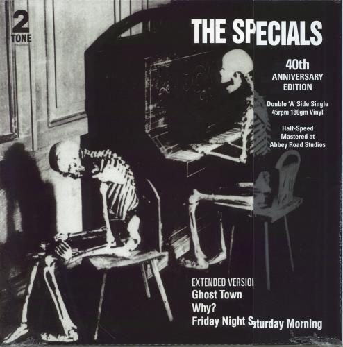 """The Specials Ghost Town - 40th Anniversary Edition - Half Speed Mastered - Sealed 12"""" vinyl single (12 inch record / Maxi-single) UK SPE12GH770030"""