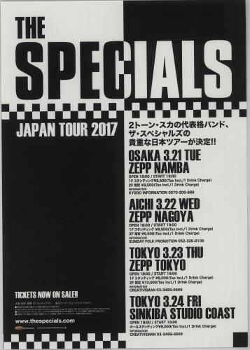 The Specials Japan Tour 2017 handbill Japanese SPEHBJA677882