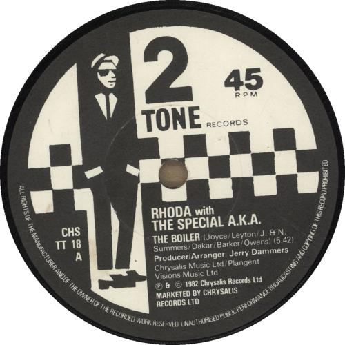 "The Specials The Boiler - Paper label - EX 7"" vinyl single (7 inch record) UK SPE07TH667448"