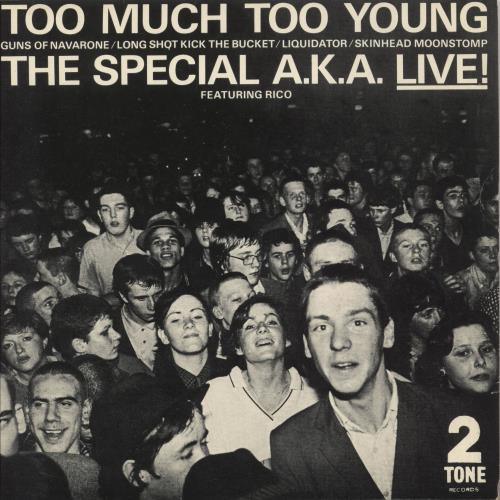 "The Specials Too Much Too Young EP - P/S - Inj 7"" vinyl single (7 inch record) UK SPE07TO733807"