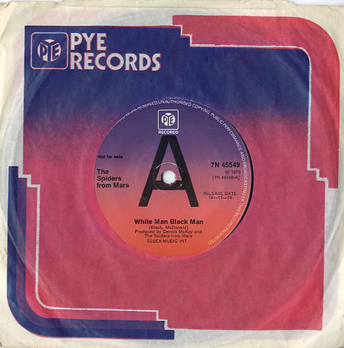 """The Spiders From Mars White Man Black Man 7"""" vinyl single (7 inch record) UK SI507WH625858"""