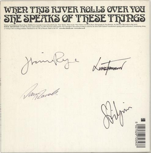 """The Stands When This River Rolls Over You - Autographed 7"""" vinyl single (7 inch record) UK T\D07WH261777"""