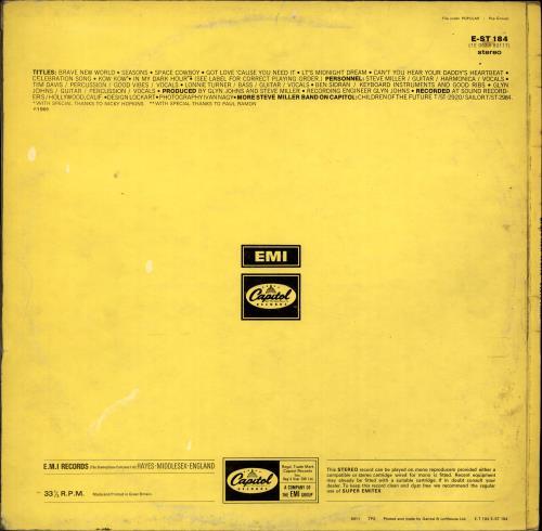 The Steve Miller Band Brave New World - Original One Box - VG vinyl LP album (LP record) UK SBMLPBR704419