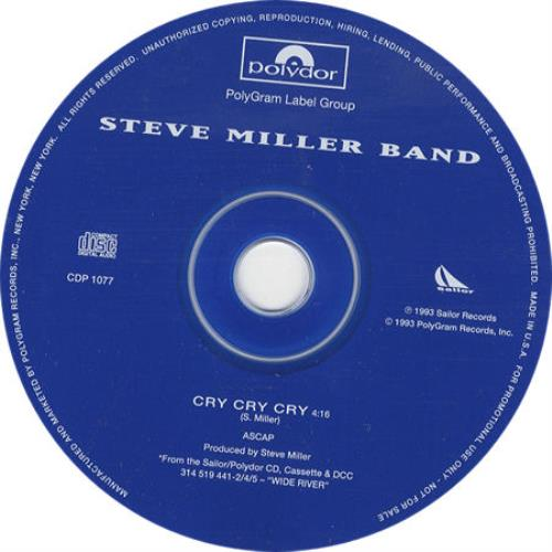 The Steve Miller Band Cry Cry Cry Us Promo Cd Single Cd5 5 178896