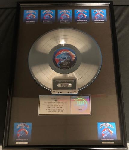 The Steve Miller Band Greatest Hits 1974-78 award disc US SBMAWGR544864