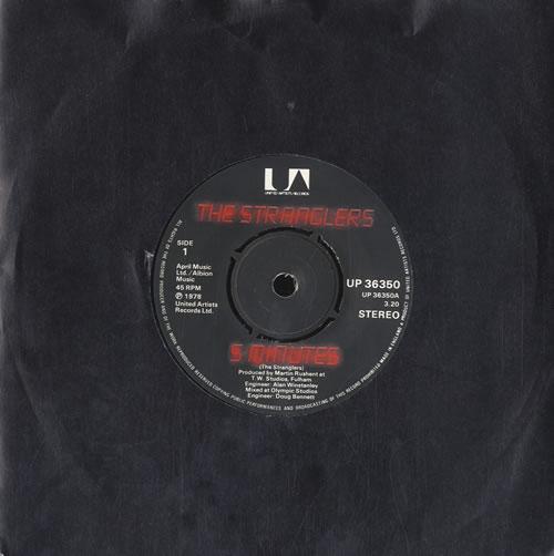 """The Stranglers 5 Minutes 7"""" vinyl single (7 inch record) UK STR07MI582899"""