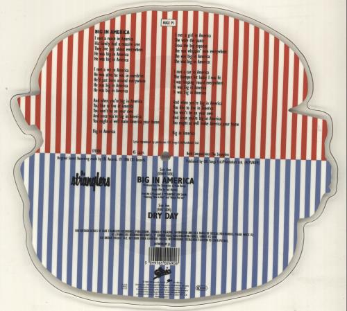 The Stranglers Big In America shaped picture disc (picture disc vinyl record) UK STRSHBI33795