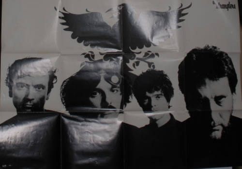 The Stranglers Black And White Poster Japanese Promo