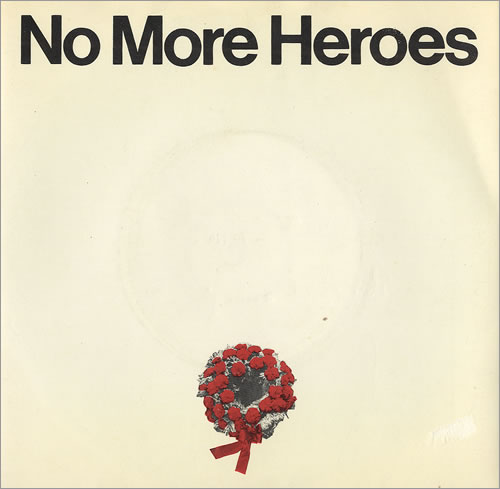 "The Stranglers No More Heroes - Logo Label + Sleeve 7"" vinyl single (7 inch record) UK STR07NO110109"