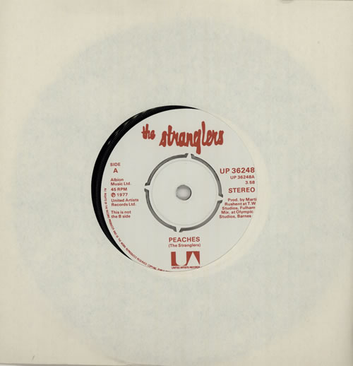 "The Stranglers Peaches 7"" vinyl single (7 inch record) UK STR07PE574974"
