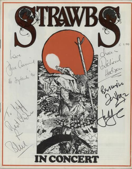 The Strawbs Strawbs In Concert - Autographed tour programme UK SRBTRST583092