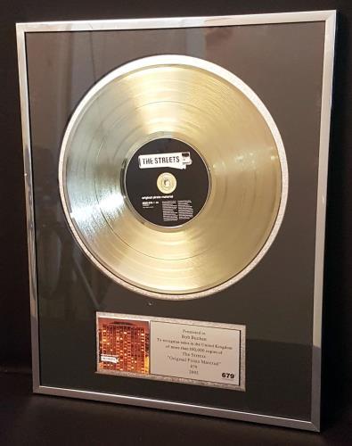 The Streets Original Pirate Material award disc UK RETAWOR700981