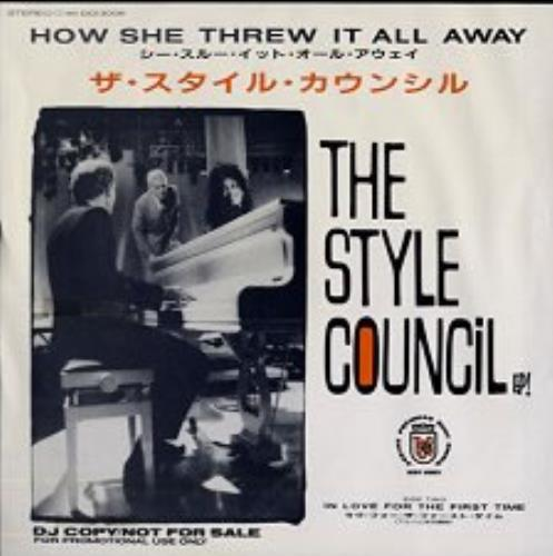 """The Style Council How She Threw It All Away 7"""" vinyl single (7 inch record) Japanese STY07HO146543"""