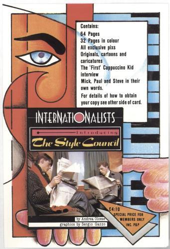 The Style Council Our Favourite Shop + Print + Fan Club Insert UK vinyl LP  album (LP record)