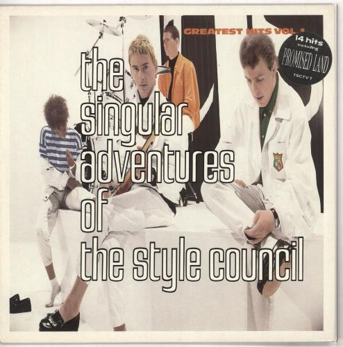The Style Council The Singular Adventures Of The Style Council - Stickered vinyl LP album (LP record) UK STYLPTH692229