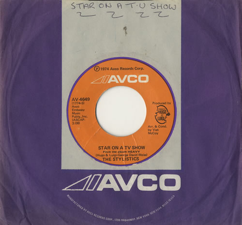 "The Stylistics Star On A TV Show 7"" vinyl single (7 inch record) US ICS07ST572224"