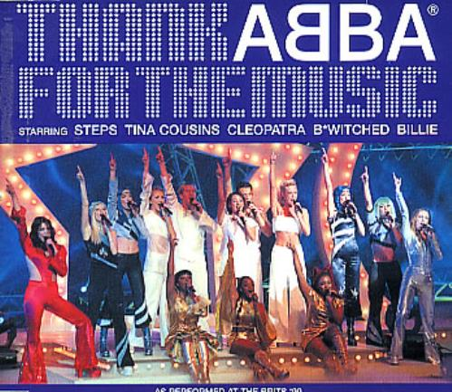 """The Super Troupers Thank Abba For The Music CD single (CD5 / 5"""") UK SU.C5TH157648"""