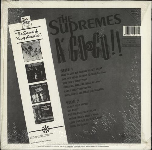 The Supremes A' Go Go vinyl LP album (LP record) German SPMLPAG729549