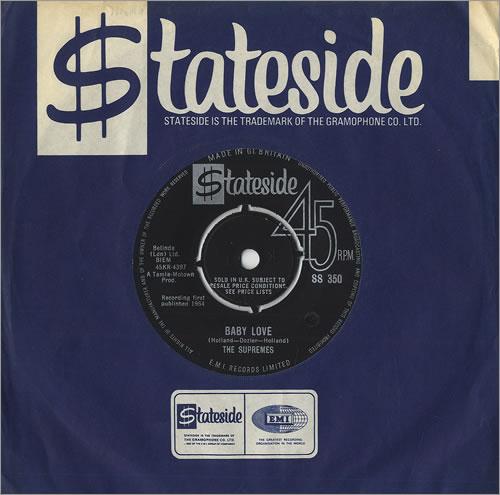 "The Supremes Baby Love 7"" vinyl single (7 inch record) UK SPM07BA459666"