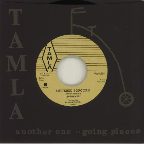 "The Supremes Buttered Popcorn 7"" vinyl single (7 inch record) US SPM07BU683346"