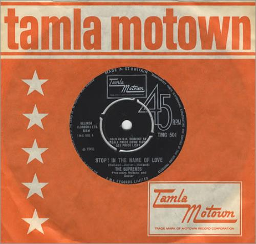 """The Supremes Stop! In The Name Of Love 7"""" vinyl single (7 inch record) UK SPM07ST408593"""