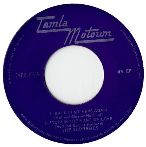"The Supremes The Supremes EP 7"" vinyl single (7 inch record) Mexican SPM07TH567409"